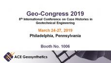 Visit ACE Geosynthetics at Geo-Congress 2019 in Philadelphia, Pennsylvania!