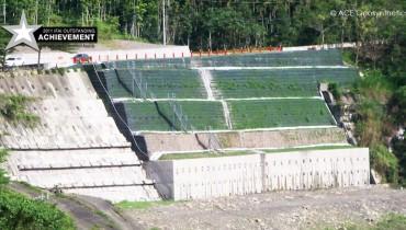 Aplicación del Sistema Compuesto de ACE cerca de Zona de falla, Ruta 131, Nantou, Taiwán