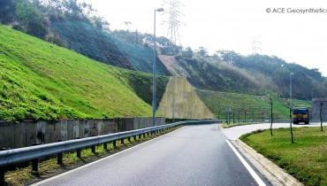 Rehabilitación del Talud, Área de Servicio Xihu, Autopista Nacional No. 3, Miaoli, Taiwan