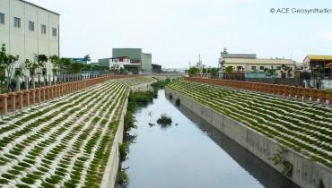 Protección Ribereña, Canal Niaosong, Kaohsiung, Taiwán