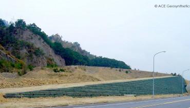 Contrafuerte de Tierra Reforzada para La Protección de Flujos de Escombros en Miaoli, Taiwán