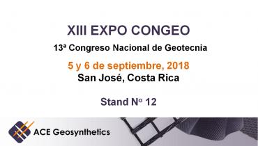¡Visite a ACE Geosynthetics en el XIII EXPO CONGEO que se llevará a cabo en Costa Rica!