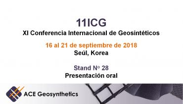 ¡Conoce a ACE Geosynthetics en 11ICG que se llevará a cabo en Seúl, Corea!