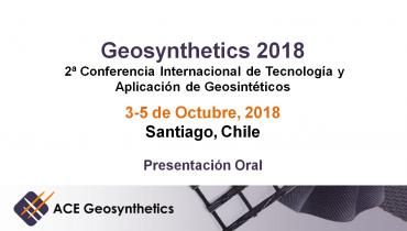¡Conoce ACE Geosynthetics en Geosynthetics 2018 en Chile!