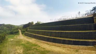 Proyecto de reconstrucción de falla de pendiente desastrosa, Taoyuan, Taiwán