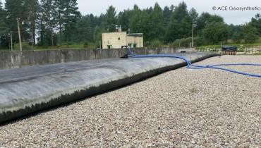 Deshidratación de lodos en una planta de tratamiento de aguas residuales, Lituania