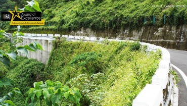Structure renforcée complexe appliquée au cas de réparation Hilly Route, Taïwan