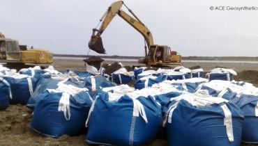 Restauration des barrières de sable, Tainan, Taiwan