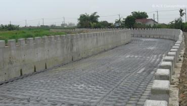 Protection du fond de canal, Tainan, Taiwan