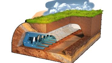 Quai de prévention des chutes de pierres