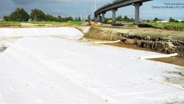 Amélioration des sols pour le projet de modernisation de la passerelle des autoroutes du Queensland, Australie