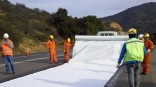 Nonwoven geotextile with excellent filtration, separation and drainage efficiency