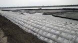 A surface protection for riverbank or pipeline