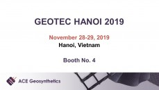 Visit ACE Geosynthetics at GEOTEC HANOI 2019 in Vietnam!