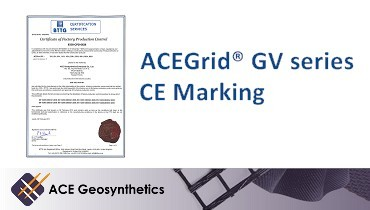 ACE Geosynthetics introduces PVA geogrid as the new product line endorsed by CE marking