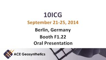Meet ACE Geosynthetics in Berlin - 10th ICG