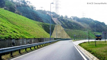 Slope Rehabilitation, Xihu Service Area, National Freeway No. 3, Miaoli, Taiwan