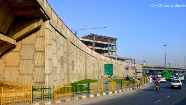 Reinforced Earth Structure, Faridabad Skyway (Badarpur Flyover), Delhi, India