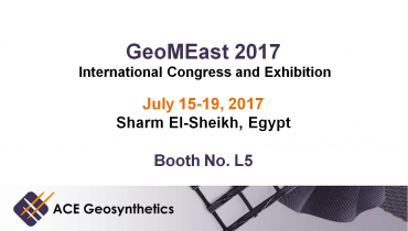 Visit ACE Geosynthetics at GeoMEast 2017, Egypt