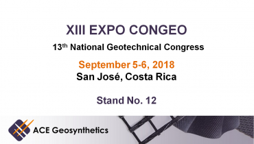 Visit ACE Geosynthetics at XIII EXPO CONGEO 2018 in Costa Rica