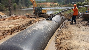 Use Geotextile Tube as Mine Slurry Dewatering Treatment, Indonesia