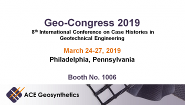 Visit ACE Geosynthetics at Geo-Congress 2019 in Philadelphia, Pennsylvania!