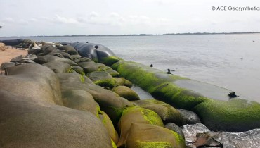 Shoreline Protection, Ada Foah, Ghana