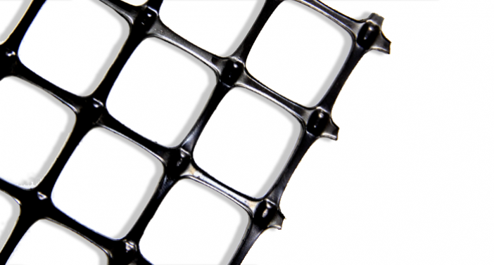 ACEGrid® GDP- PP geogrids with high modulus, junction and connection strength fabricated through extrusion, punching and drawing