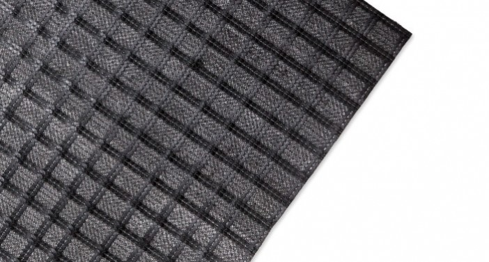 ACECompo™ GB- Geocomposite of fiberglass grid and nonwoven textile with bitumen coating