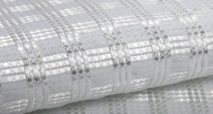 Base reinforcement fiberglass geocomposite with high tensile strength and low elongation