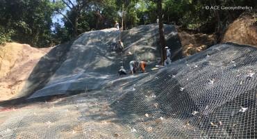 Shallow landslide treatment project, Ba Deo park, Ha Long city, Vietnam