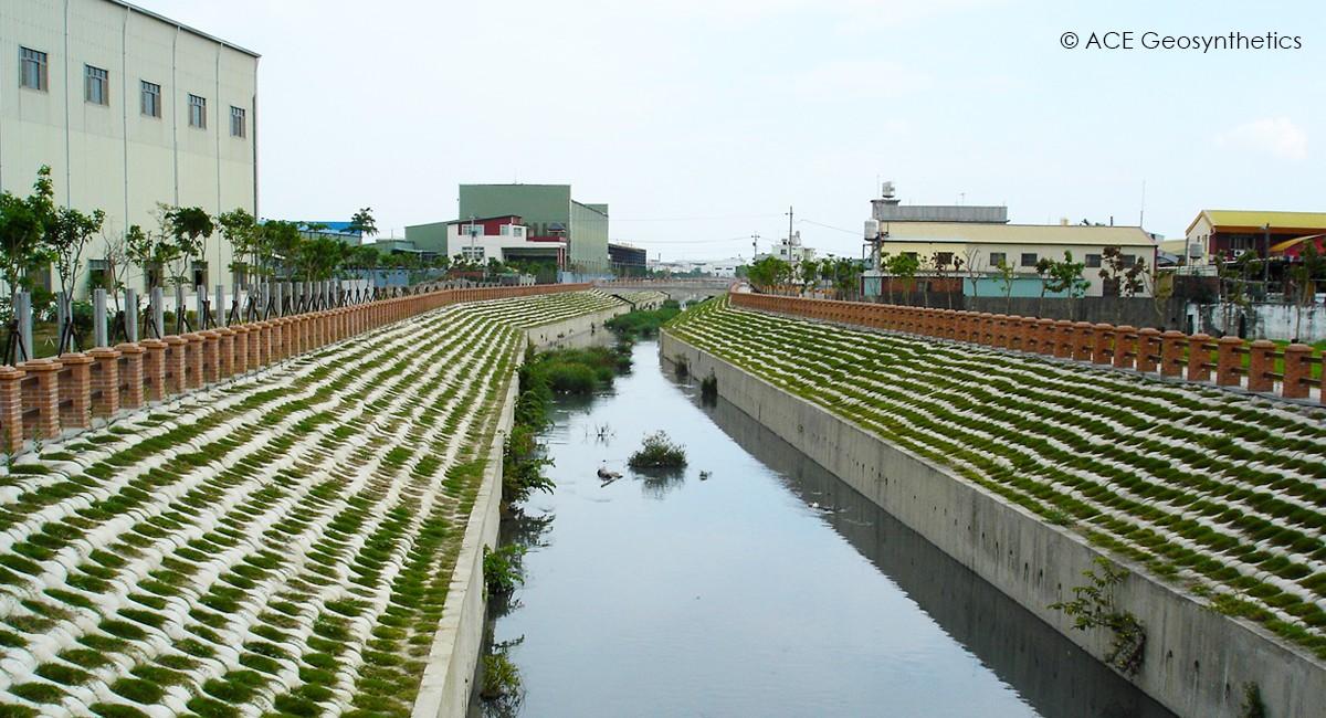 Riverbank Protection, Niaosong Canal, Kaohsiung, Taiwan