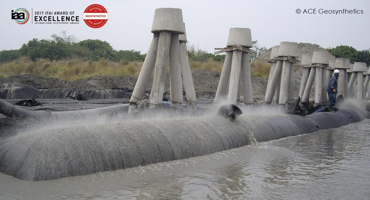 Contrôle de l'érosion des berges, rivière Zhuoshui, Changhua, Taiwan