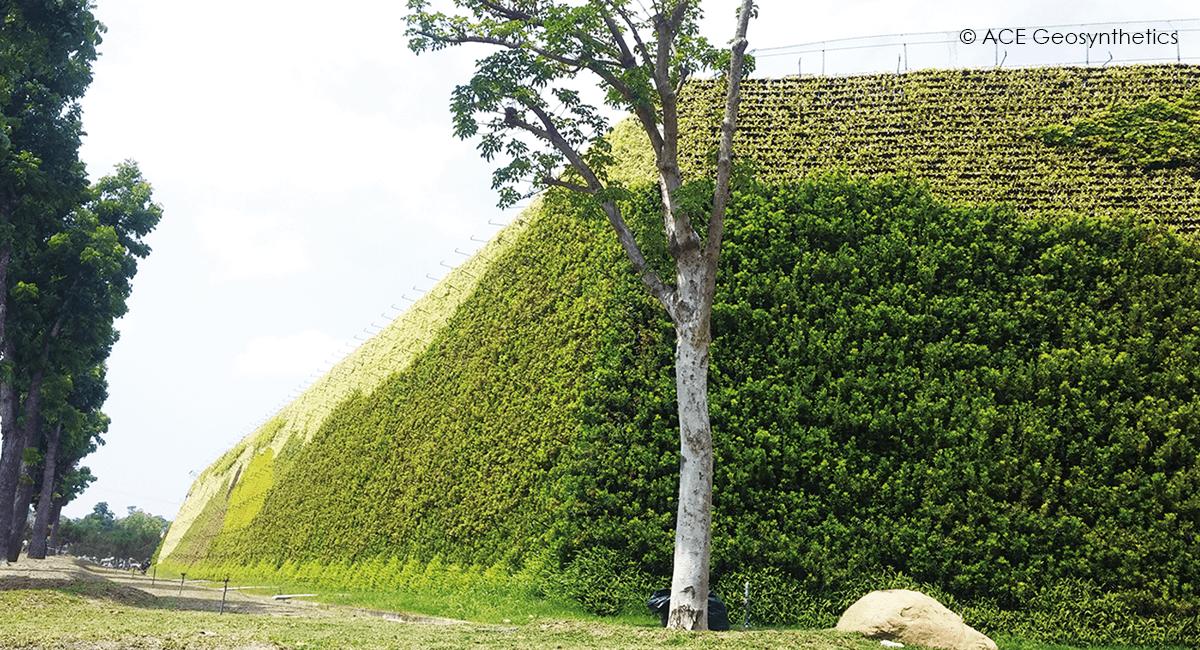 Diques de Tierra Reforzada, Proyecto de Expansión para Vertedero de Residuos Clase B, Kaohsiung, Taiwán