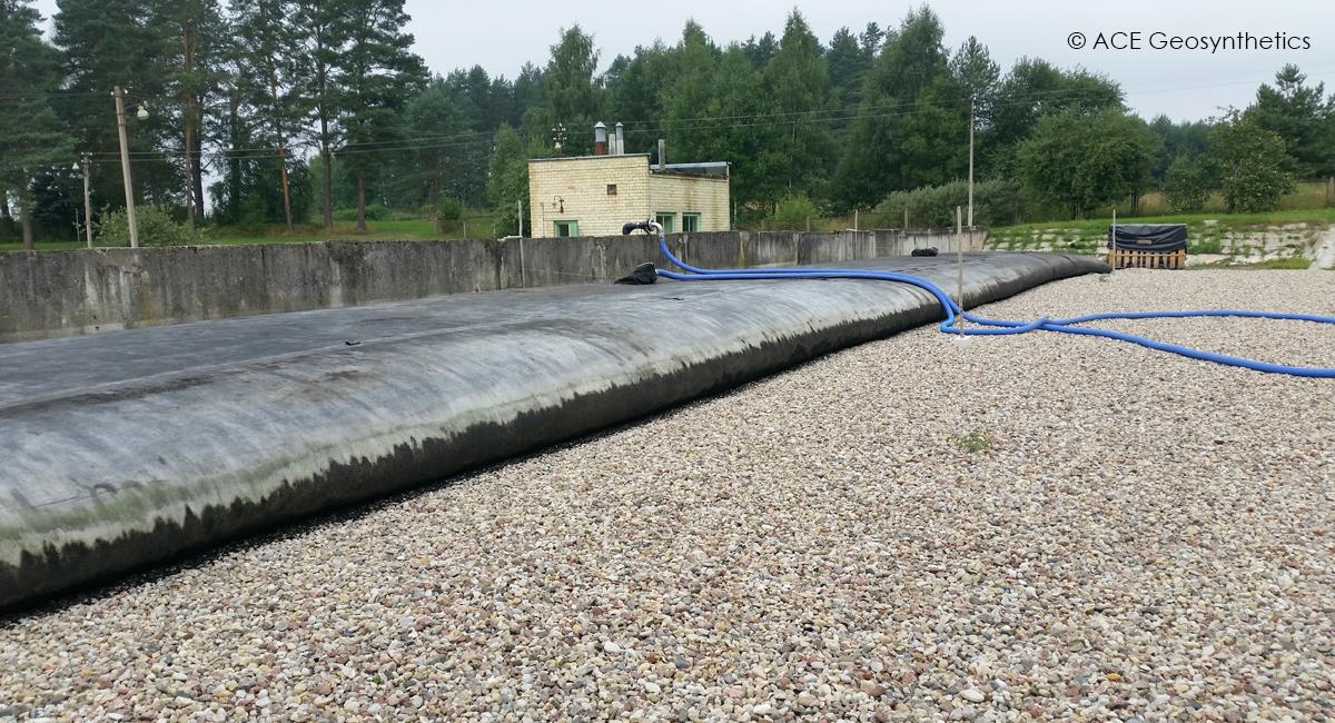 Tách nước trong bùn tại nhà máy xử lý nước thải, Litva