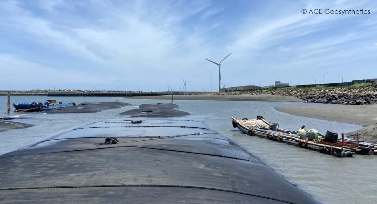 Cofferdam Construction for Renewable Energy Plan, Taiwan