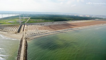 Công trình xử lý cát bay bờ bắc cảng Đài Trung, Thành phố Đài Trung, Đài Loan