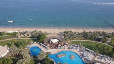 Công trình bảo vệ bãi biển phía trước khách sạn, Fujarah, UAE