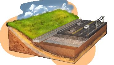 Cầu nối qua các hầm ngầm và hố sụt