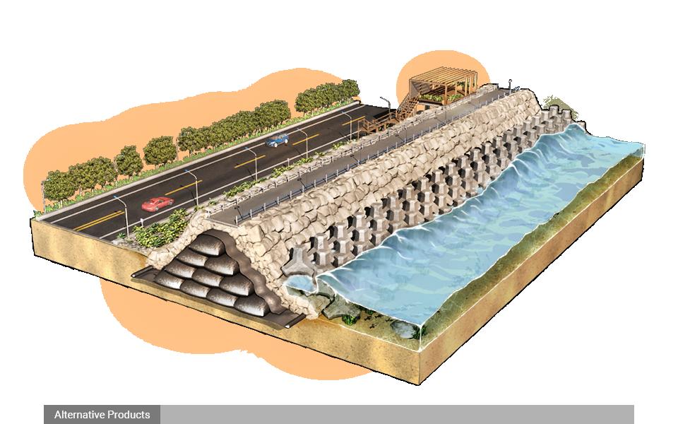 Đê biển và vách ngăn chắn nước