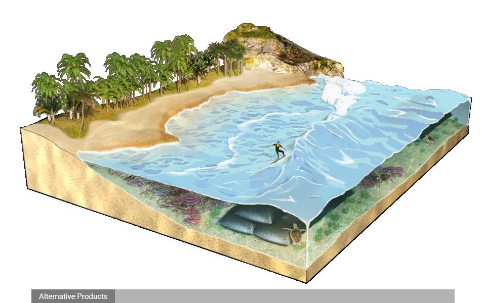 Kè chắn sóng ngầm và rạn san hô nhân tạo